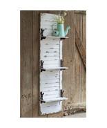 Hanging Wall Shelf Rustic Style Decorative Window Shutter Hooks White Wa... - $188.05