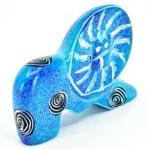 Crafts Caravan Hand Carved Soapstone Speckled Blue Lion Figurine Made in Kenya image 5