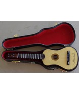 Vintage Collectible Guitar Shaped Music Box - With Case - GOOD WORKING C... - $29.69