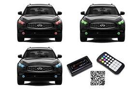 FLASHTECH LED RGB Multi Color Halo Ring Headlight and Fog Light Kit for ... - $369.46