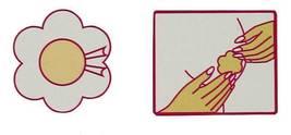 NEW 3 PCS WOMEN'S FULLNESS SELF ADHESIVE BREAST PETALS NIPPLES COVER BEIGE #2006 image 4