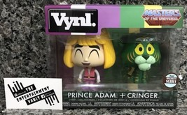 "NEW FUNKO VYNL MOTU ""PRINCE ADAM + CRINGER"" SPECIALTY SERIES VINYL FIGUR... - $12.82"