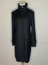 Tory Burch Womens Coat Jacket Designer Button Long Black Sz 6 - $129.95