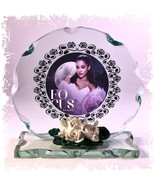 Ariana Grande,Focus, Round  Cut Glass Photo Plaque Limited Edition  Vale... - $28.47