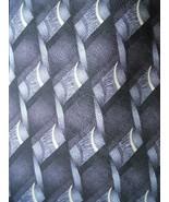 Hill & Archer Tie Black Grey Patterned Woven Print Mens Necktie - $3.50
