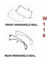 FRONT AND REAR Rubber WINDOW WINDSHIELD Seal Mercedes Benz W108 Set OF 2 PC - $144.42
