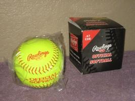 "Rawlings 12"" Yellow Cover BRO .47 cor - 375lb Max. comp. Softball BRO12Y47L - $9.46"