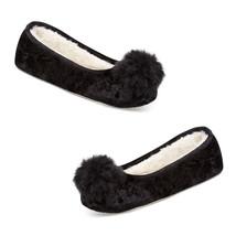 New INC International Concepts Faux Fur Velvet Ballerina Slippers XL 11 ... - £7.54 GBP