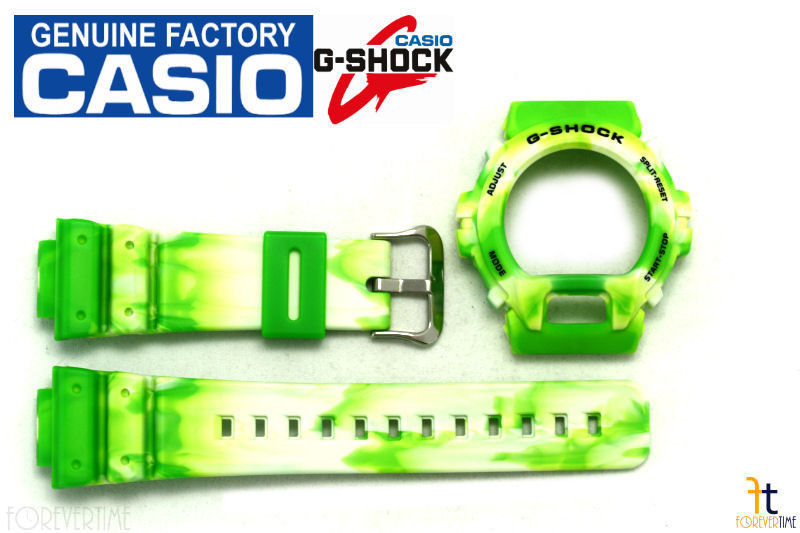 Primary image for CASIO G-Shock DW-6900JC-3V Original Lime Green Camouflage BAND & BEZEL Combo