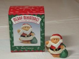 HALLMARK Merry Miniatures Charm Santa Cameron Christmas charm - $19.93