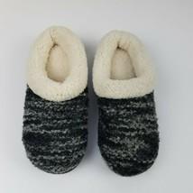 Dearfoams Womens Size Small (5-6) Memory Foam Slippers Boucle Knit Wool Blend - $14.85