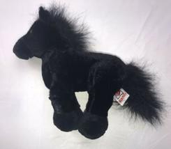 "Webkinz Black Stallion Plush HM145 Ganz NO CODE 8"" - $17.81"