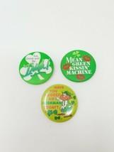 Vtg Irish pinback advertising Saint Patrice green set of 3 - $23.76
