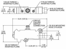 GM CHEVY DISC/DRUM BRAKE ACDELCO PROPORTIONING VALVE PV2 ALUMINUM OEM QUALITY image 2