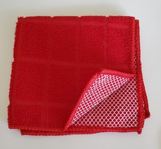 Red Coffee Kitchen Set 7pc Towels Potholders Dishcloths Colorful Cafe Cups image 4