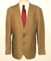 J Crew Ludlow Sport Coat 100% Linen Blazer 44R Mens Brown Khaki Jacket 2... - $67.99