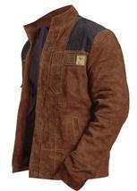 Han Solo A Star Wars Story Warrior Alden Ehrenreich Brown Suede Leather Jacket image 3