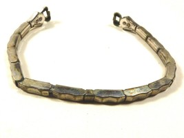 Vintage Ladies Silver tone metal stretched Watch Band made in USA - $19.01
