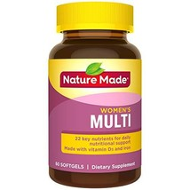 Nature Made Women's Multivitamin Softgels with Vitamin D3 and Iron, 60 Count Pac