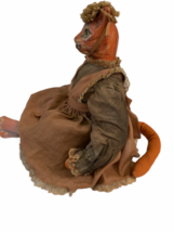 "Vintage Michael Berger Figure Figurine Art Sculpture Orange Cat Doll 21"" image 7"