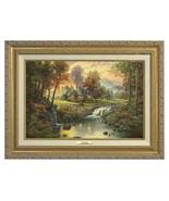 Thomas Kinkade Mountain Retreat Canvas Classic (Gold Frame) - $374.98