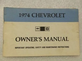 1974 Chevrolet Chevy Owners Manual 16015 - $16.82