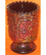 Fenton Carnival, strawberry pattern, toothpick holder, Amethyst, Circa 1... - $32.95