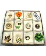 12 Assorted Pins Sold in individual gift boxes ... - $17.99