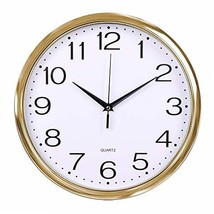 Fanyuanfds Decorative Wall Clock, 12 inches Silent Non-Ticking Quartz Wa... - $16.07