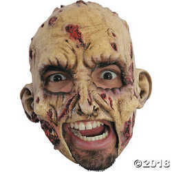 Zombie Rotted Scary Horror Latex Adult Halloween Costume Mask