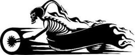 Motorcycle Skeleton Biker Skull Car Truck Window Wall Laptop Vinyl Decal... - $4.74+