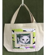 """Small Cat Art Canvas Tote Bag  - """"Timmy"""" - $23.00"""