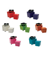 2 PIECE SET - Choice of Color Storage Ottoman w/Tray PLUS Extra Matching... - $69.99