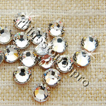10ss Swarovski Elements Clear 001 144 pcs Fix Iron Crystal - $24.95
