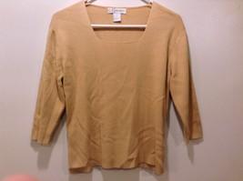 Ladies Golden Brown U-Neck Sweater by DressBarn Sz M