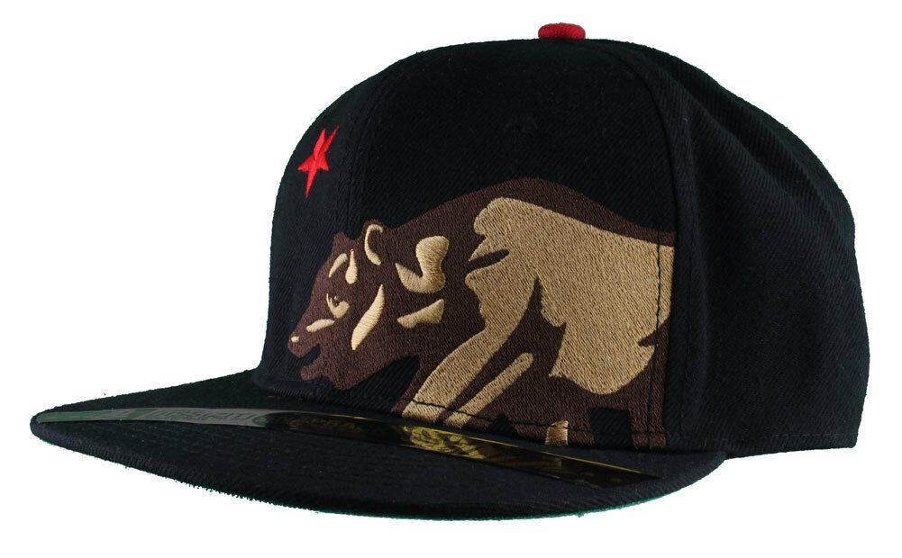 Dissizit! Lato Orso Nero Snapback Cappello California Stella Bandiera