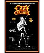 "Ozzy Osbourne Band ""DOAMM"" Tour Jan 24, 1982 Chicago Custom Stand-Up Dis... - $16.99"