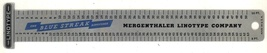 Mergenthaler linotype Co vintage advertising ruler aluminun - $9.99