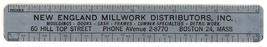 New England Millwork vintage advertising ruler lumber premium  - $8.00