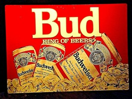 Vintage Bud King of Beers Sign AA19-1437 - $29.95