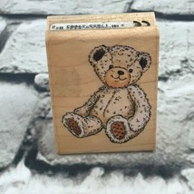 "Ted E. Bear Rubber Stamp By Rubber Stampede #A2159D 2.25""X1.75"" Mounted - $4.94"