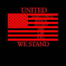 United we stand emergency response teams flag decal awareness sticker image 2