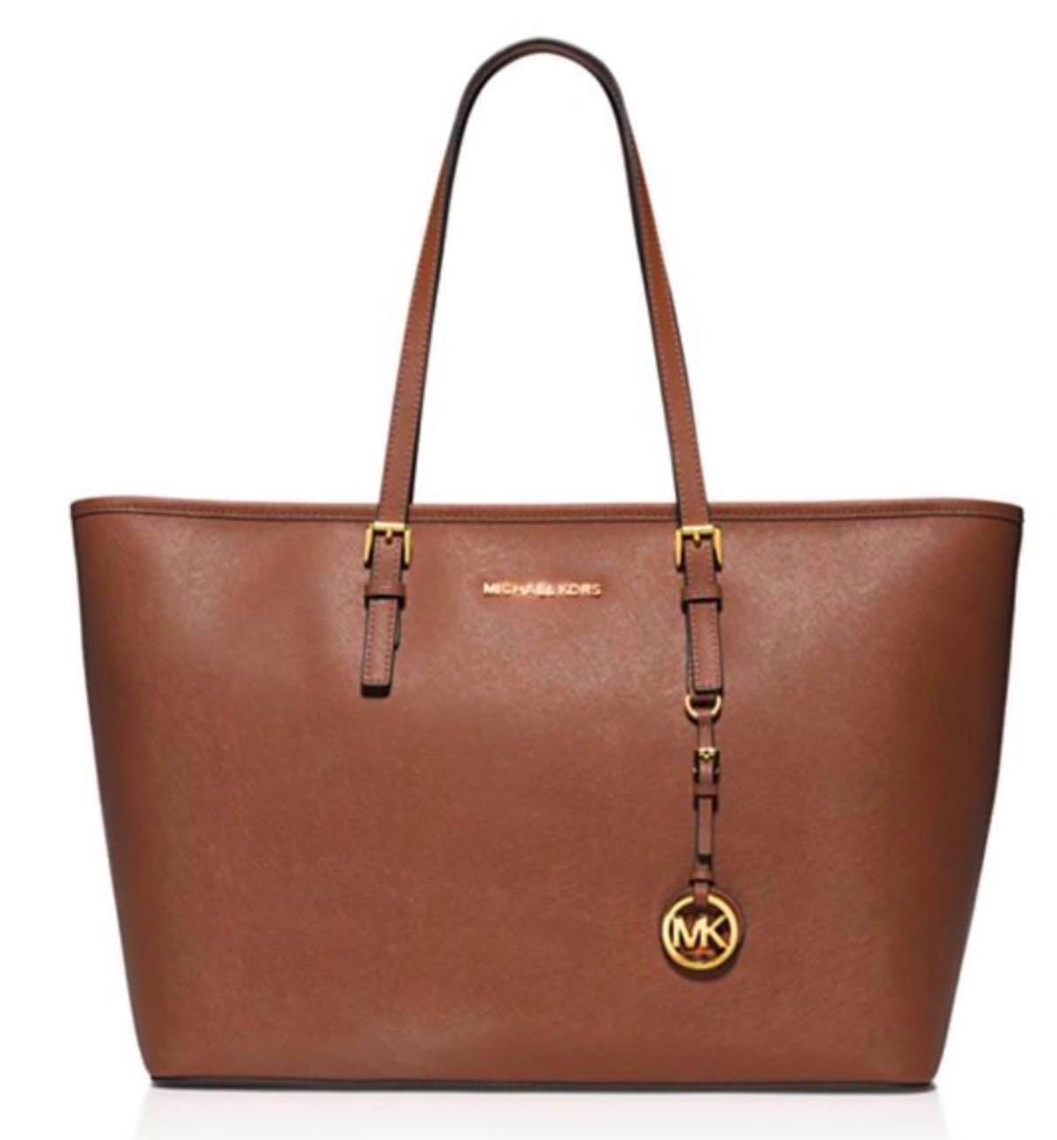 d3319c94b82c NWT $298 Michael Kors Medium Jet Set Top Zip Multi-Function Leather Tote!