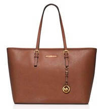 NWT $298 Michael Kors Medium Jet Set Top Zip Multi-Function Leather Tote! - $205.20