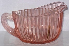 Antique Depression Glass Queen Mary design Creamer in pink, Circa 1939 -... - $29.95