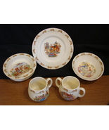 Royal Doulton Bunnykins - Set of 5 Dishes and Cups - $325.00