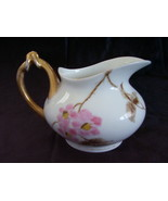 Wm Guerin Limoges France Creamer Peach Blossoms Gold - $28.00