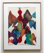 Alice Baber 1979 Unique Abstract Watercolor Hand Signed Dated Framed JKL... - $3,465.00