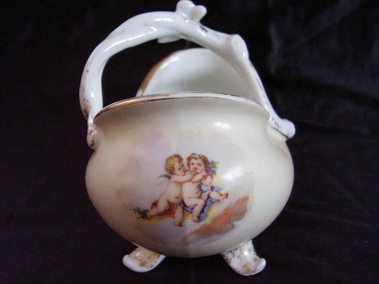 Antique Limoges French Open Sugar Bowl JPL C1900