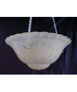Vintage Glass Ceiling Shade Lamp 3 Hole Vintage... - $22.00